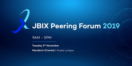 Johor Bahru Internet Exchange Peering Forum 2019 tickets