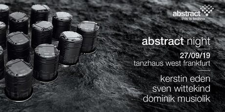 Abstract Labelnight | Tanzhaus West Tickets