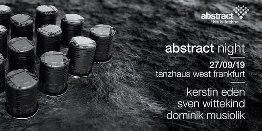 Abstract Labelnight | Tanzhaus West