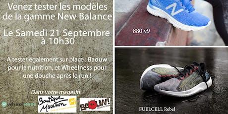 Entrainement avec New Balance x Wheelness billets