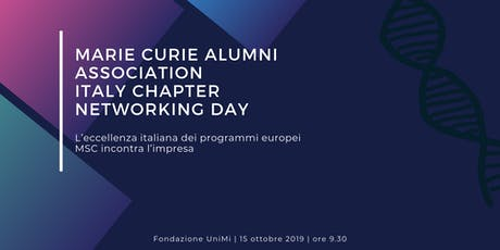 Marie Curie Alumni Association | Italy Capter| Networking Day biglietti