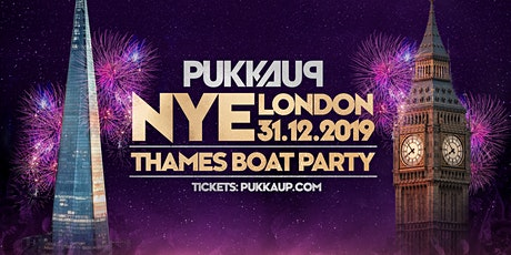 Pukka Up New Years Eve - Thames Firework Boat Party - London tickets