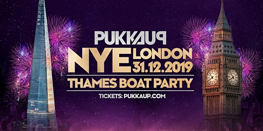Pukka Up New Years Eve - Thames Firework Boat Party - London