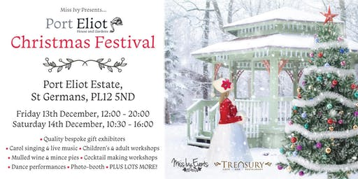 Port Eliot Christmas Festival, live music, stalls, workshops, food etc