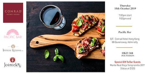 Tapas & Rioja Wine Free Flow Pairing @ Conrad Hotel