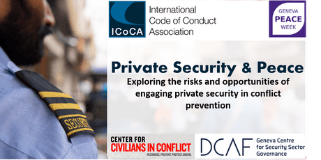 Private Security & Peace, Exploring Risks and Opportunities tickets