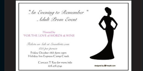 An Evening to Remember-ADULT PROM 2019 tickets