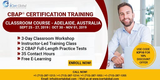 CBAP- (Certified Business Analysis Professional™) Certification Training Classroom Course in Adelaide, Australia