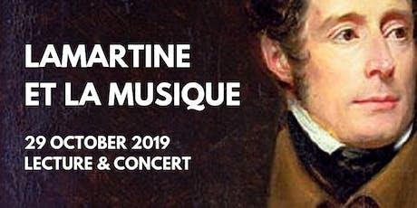 Lamartine et la musique -  Lecture tickets