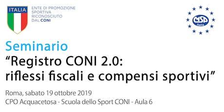 Registro CONI 2.0: riflessi fiscali e compensi sportivi biglietti