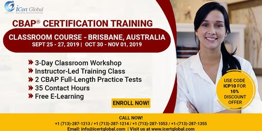 CBAP- (Certified Business Analysis Professional™) Certification Training Classroom Course in Brisbane, Australia