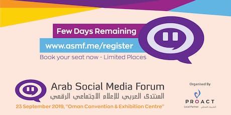 Arab Social Media Forum tickets