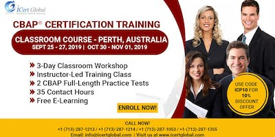 CBAP- (Certified Business Analysis Professional™) Certification Training Classroom Course in Perth, Australia