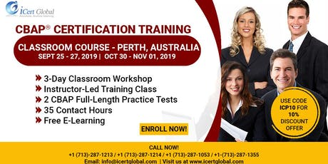 CBAP- (Certified Business Analysis Professional™) Certification Training Classroom Course in Perth, Australia tickets