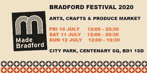 Made Bradford Markets - Bradford Festival 2020 - Sunday 12th July 2020