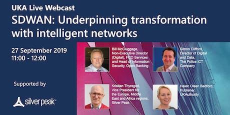 Underpinning transformation with intelligent networks tickets