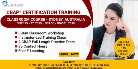 CBAP- (Certified Business Analysis Professional™) Certification Training Classroom Course in Sydney, Australia tickets