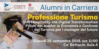 Alumni in Carriera: Professione Turismo 2019