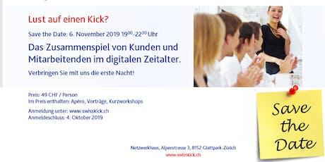 Swisskick Inspirationsnacht Tickets