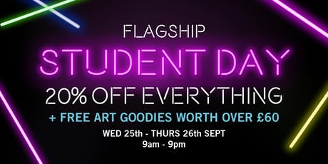 Cass Art's Flagship Student Day tickets