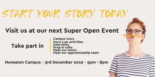 Nuneaton Campus Super Open Evening
