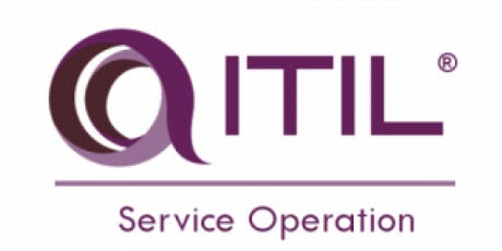 ITIL® – Service Operation (SO) 2 Days Virtual Live Training in Hong Kong tickets