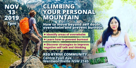 Climbing Your Personal Mountain:Breaking Free From Self Doubt ,Stress  and Overwhelm tickets