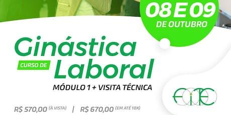 Curso de Ginástica Laboral - Modulo I + Visita Técnica ingressos
