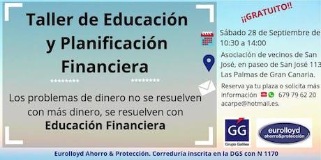 TALLER DE EDUCACIÓN Y PLANIFICACIÓN FINANCIERA entradas
