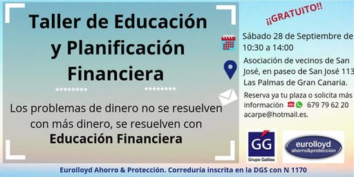 TALLER DE EDUCACIÓN Y PLANIFICACIÓN FINANCIERA