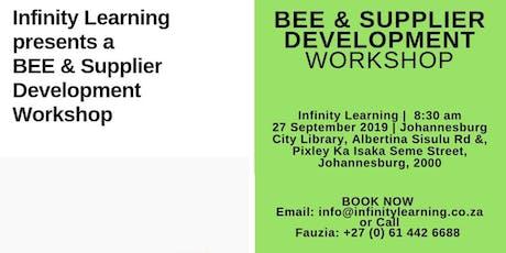 BEE and Supplier Development tickets
