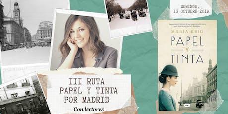 III Ruta Papel y Tinta por Madrid con lectores entradas