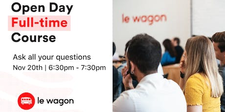 Le Wagon Full-Time Bootcamp - Open Evening tickets