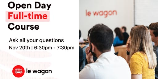 Le Wagon Full-Time Bootcamp - Open Evening