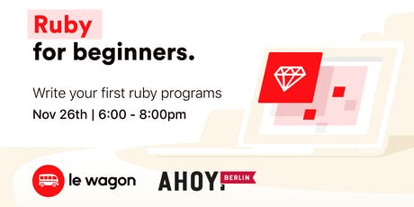 Introduction to Ruby Programming Language with Le Wagon tickets