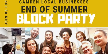 CAMDEN LOCAL BUSINESSES End of summer BLOCK PARTY tickets