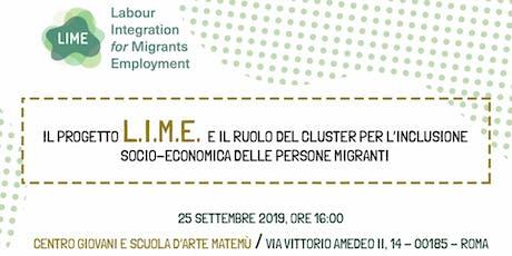 """Il progetto LIME ed il """"Migrants Economic Integration Cluster"""" biglietti"""