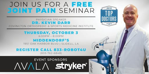 Free Joint Seminar - Kevin Darr, MD