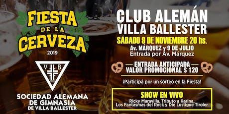 Fiesta de la Cerveza 2019 entradas