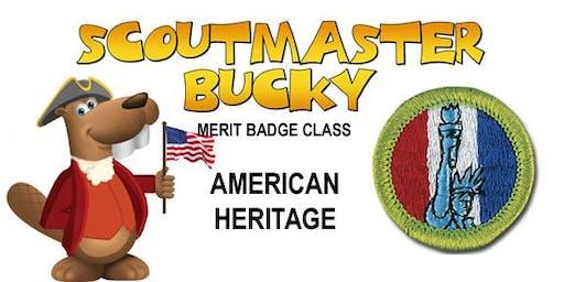 American Heritage Merit Badge - 2019-11-09 - Saturday AM - Scouts BSA