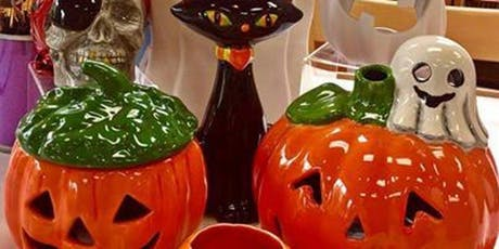 Socializing, Ceramics, Painting & Wine: Halloween Items tickets