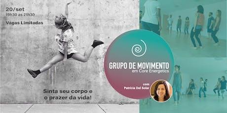 Workshop: Grupo de Movimento em Core Energetics/São Paulo ingressos