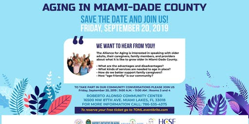 Aging In Miami Dade Community Forum