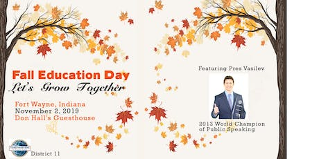 District 11 Toastmasters Fall Education Day tickets
