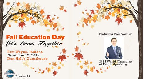 District 11 Toastmasters Fall Education Day