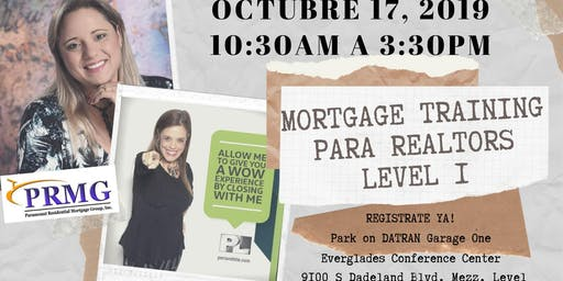 Mortgage Training para Realtors Level I