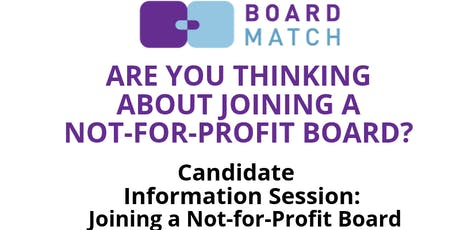 Candidate Information Session: Joining a Not-For-Profit Board (Galway) tickets