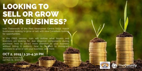 Looking to sell or grow your business? tickets