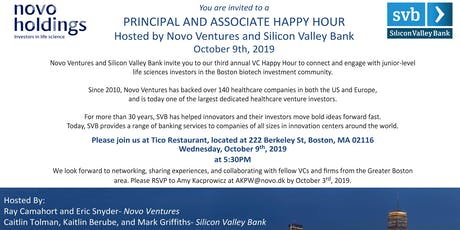 Novo Ventures and Silicon Valley Bank VC Happy Hour tickets