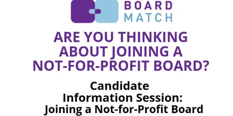 Candidate Information Session: Joining a Not-For-Profit Board (Dublin) tickets